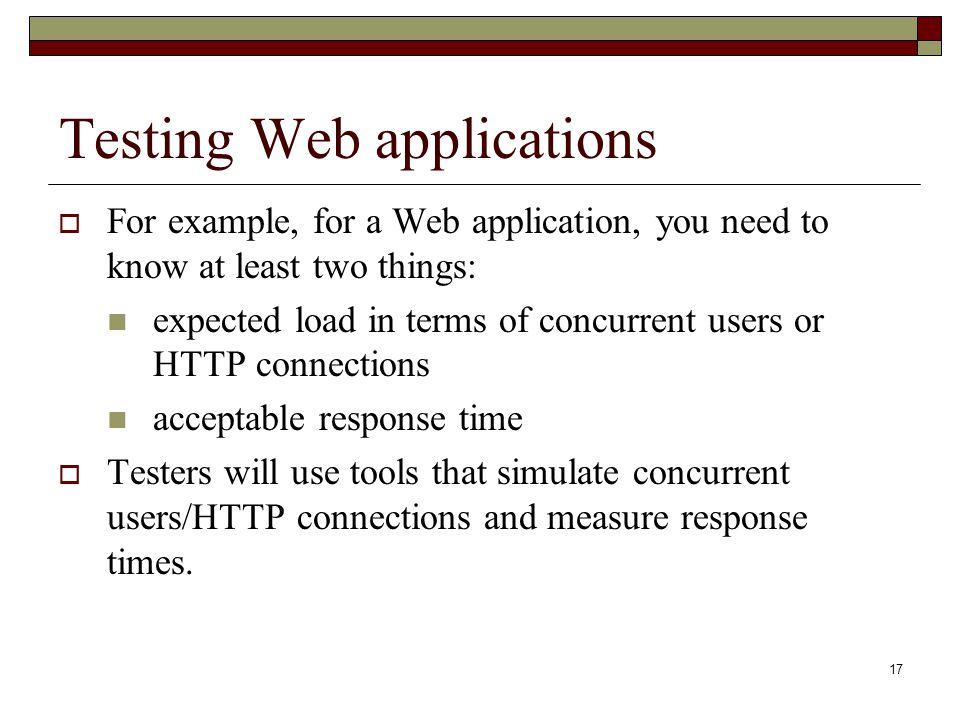 Testing Web applications