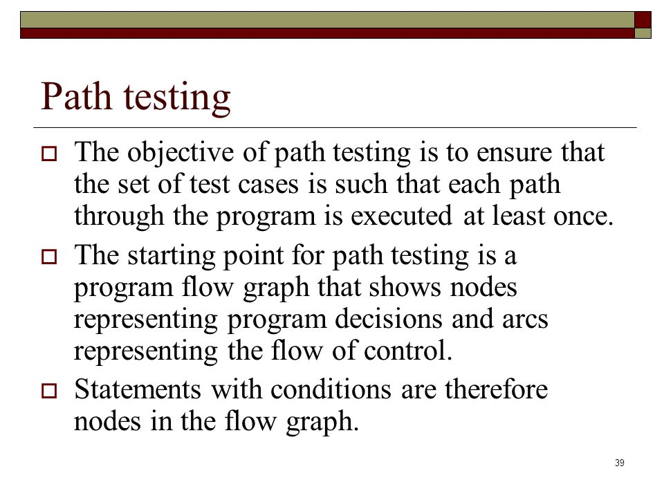 Path testing