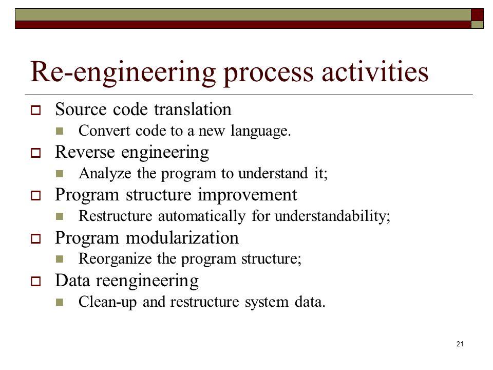 Re-engineering process activities