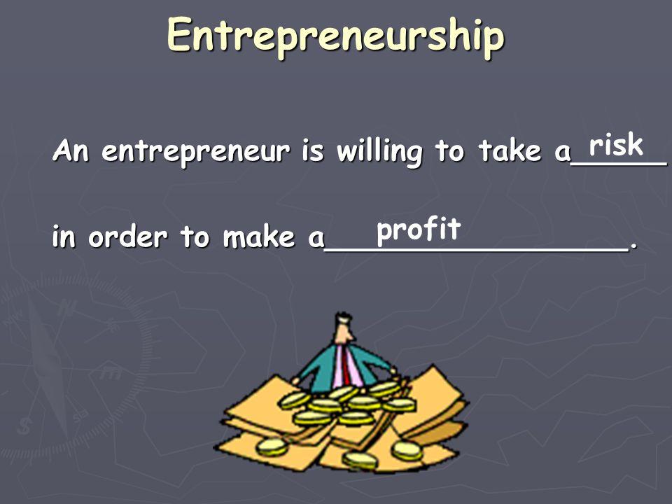 Entrepreneurship risk