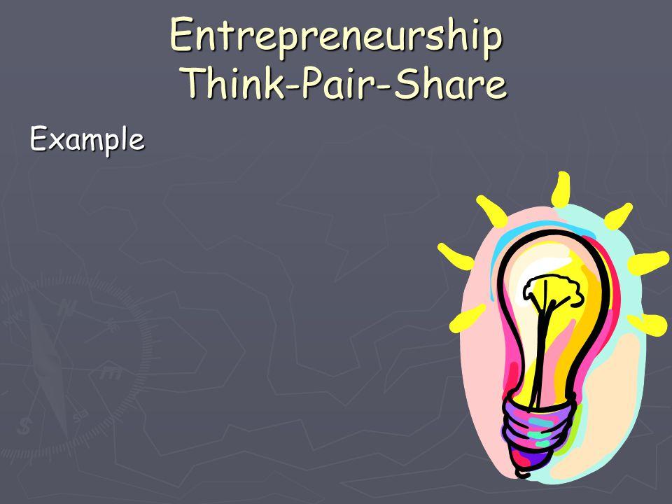 Entrepreneurship Think-Pair-Share