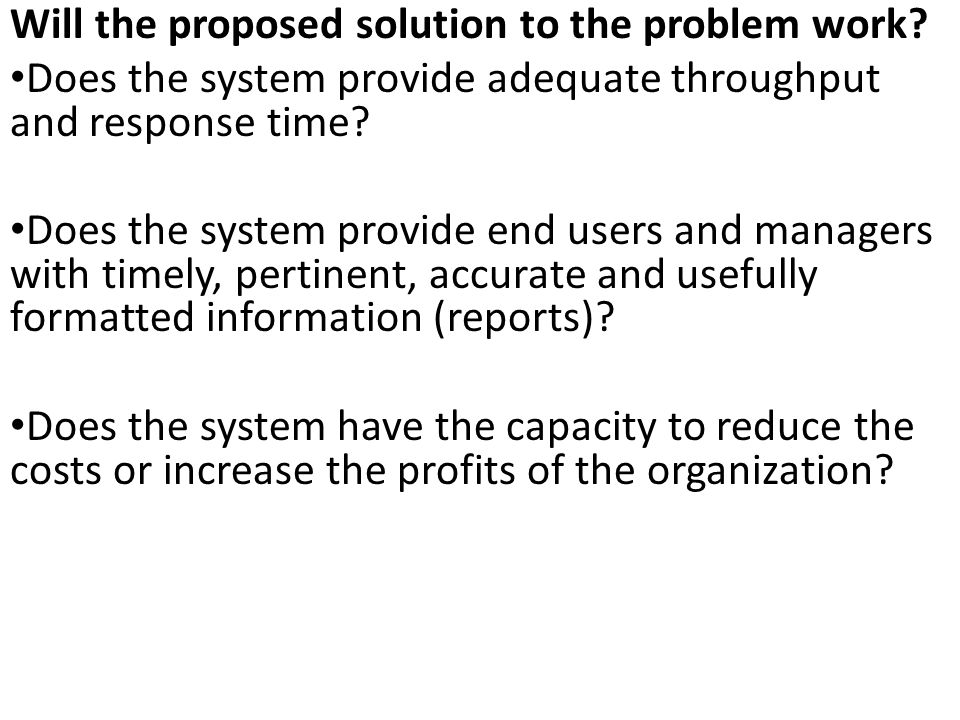Will the proposed solution to the problem work