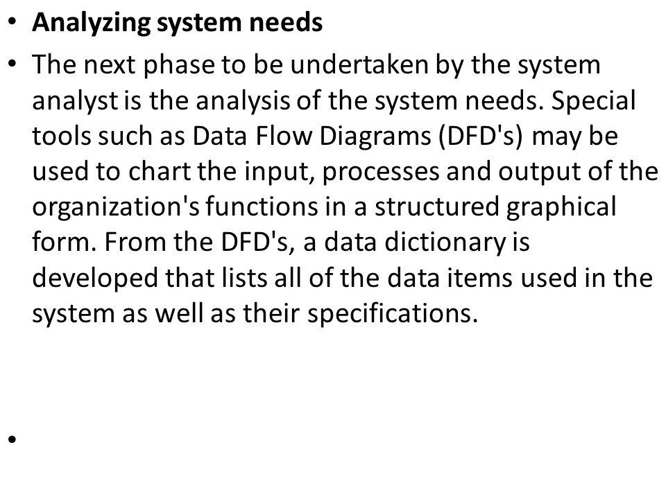 Analyzing system needs