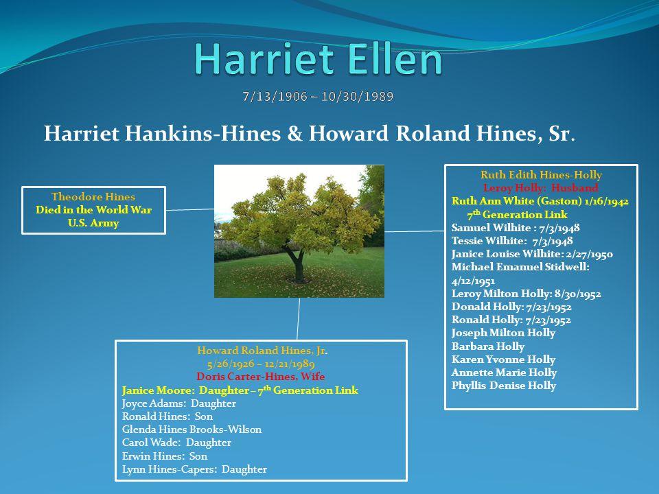 Harriet Hankins-Hines & Howard Roland Hines, Sr.