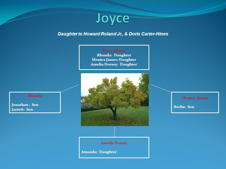 Joyce Daughter to Howard Roland Jr., & Doris Carter-Hines Joyce Adams