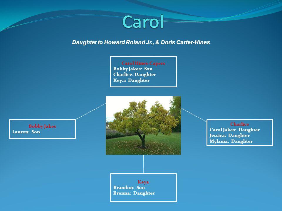 Daughter to Howard Roland Jr., & Doris Carter-Hines