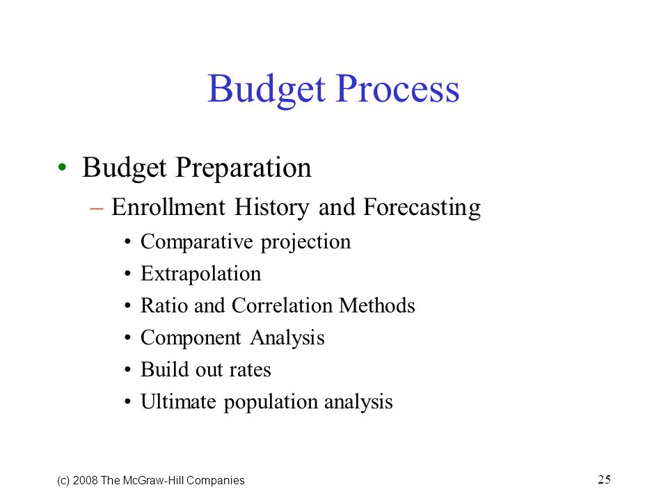 Budget Process Budget Preparation Enrollment History and Forecasting