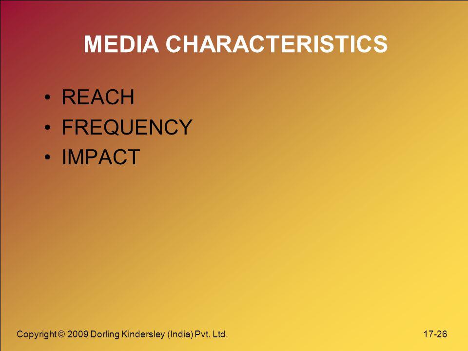MEDIA CHARACTERISTICS