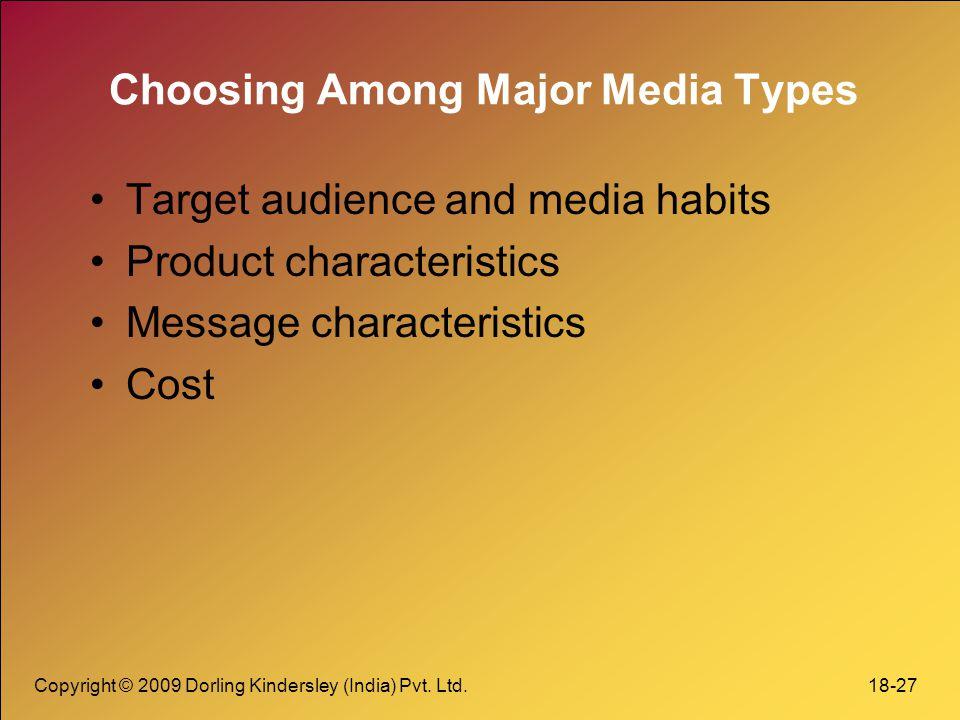 Choosing Among Major Media Types