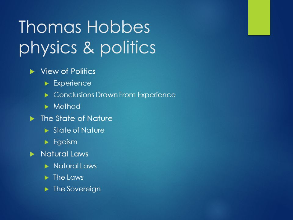 Thomas Hobbes physics & politics