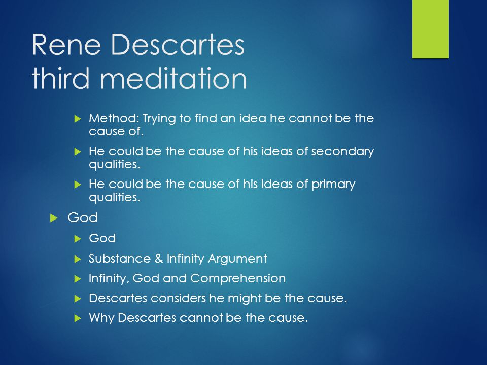 Rene Descartes third meditation