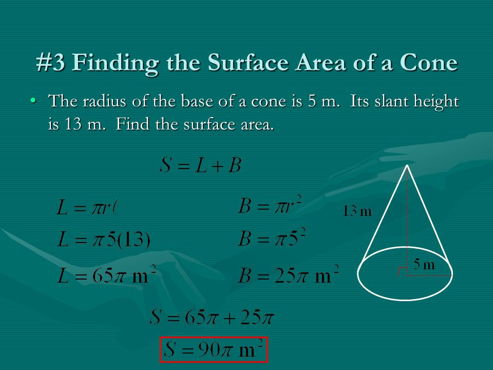 #3 Finding the Surface Area of a Cone