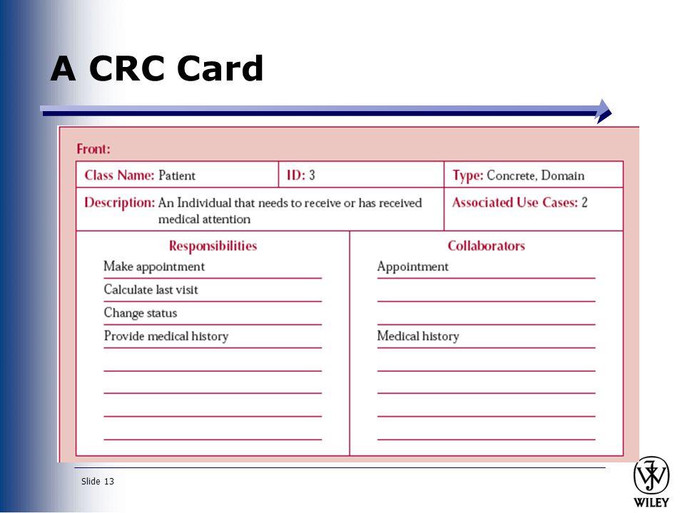 A CRC Card