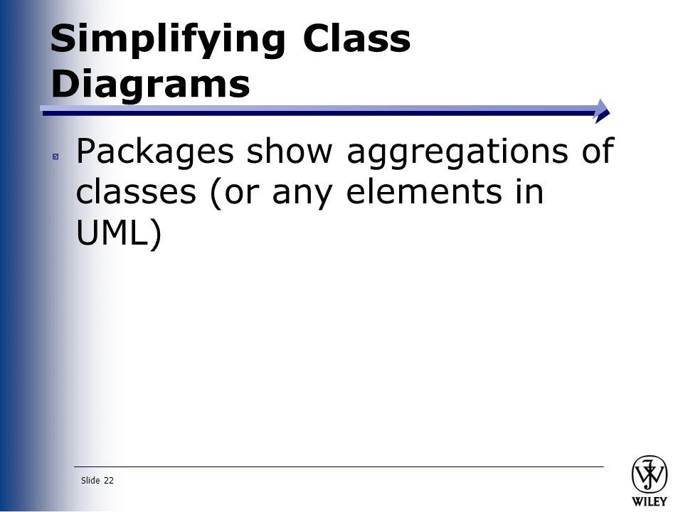 Simplifying Class Diagrams