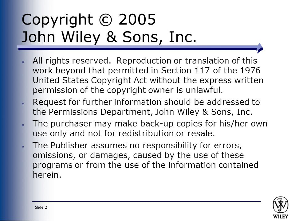 Copyright © 2005 John Wiley & Sons, Inc.