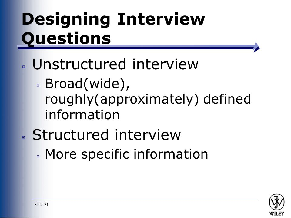 Designing Interview Questions