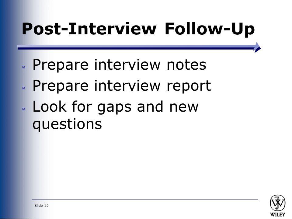Post-Interview Follow-Up