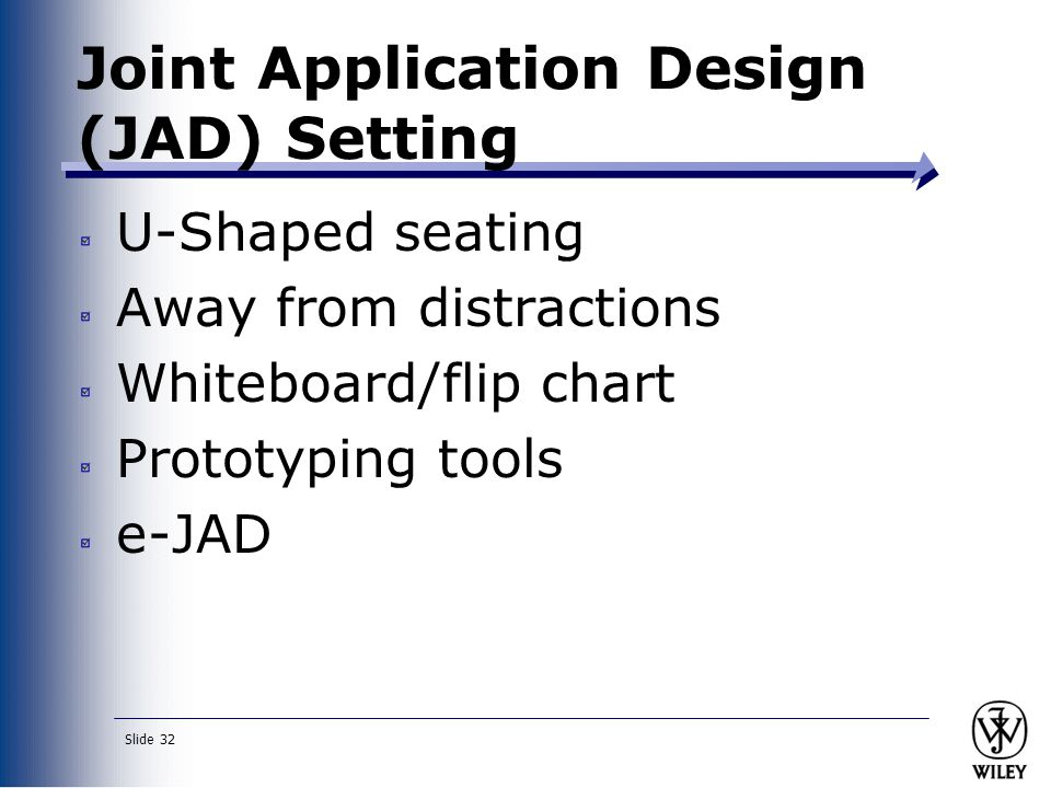 Joint Application Design (JAD) Setting
