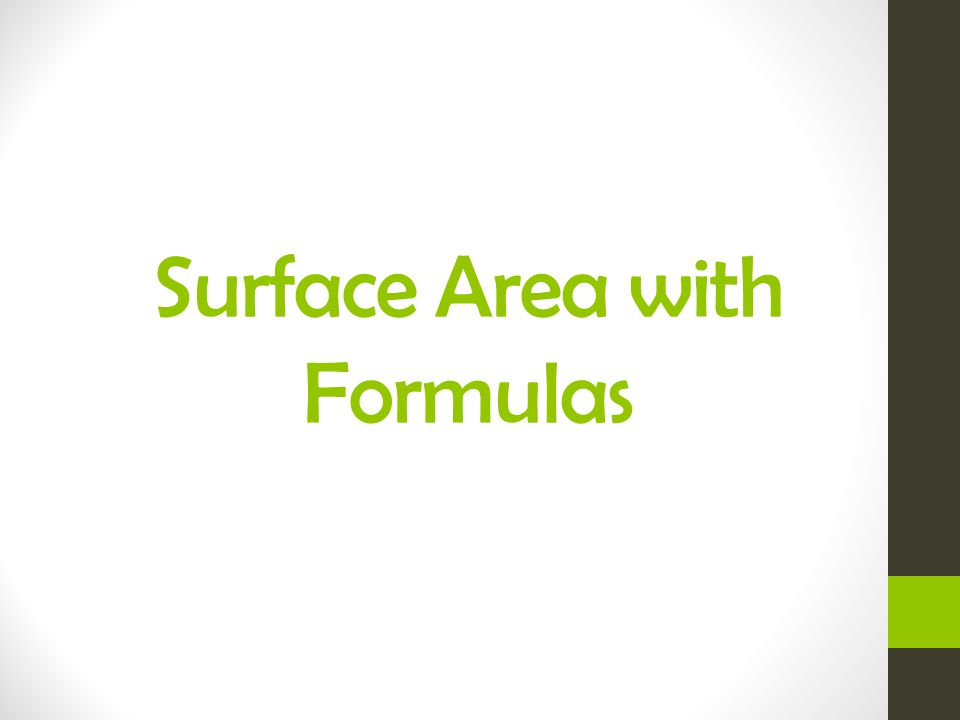 Surface Area with Formulas