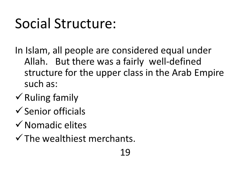 Social Structure: