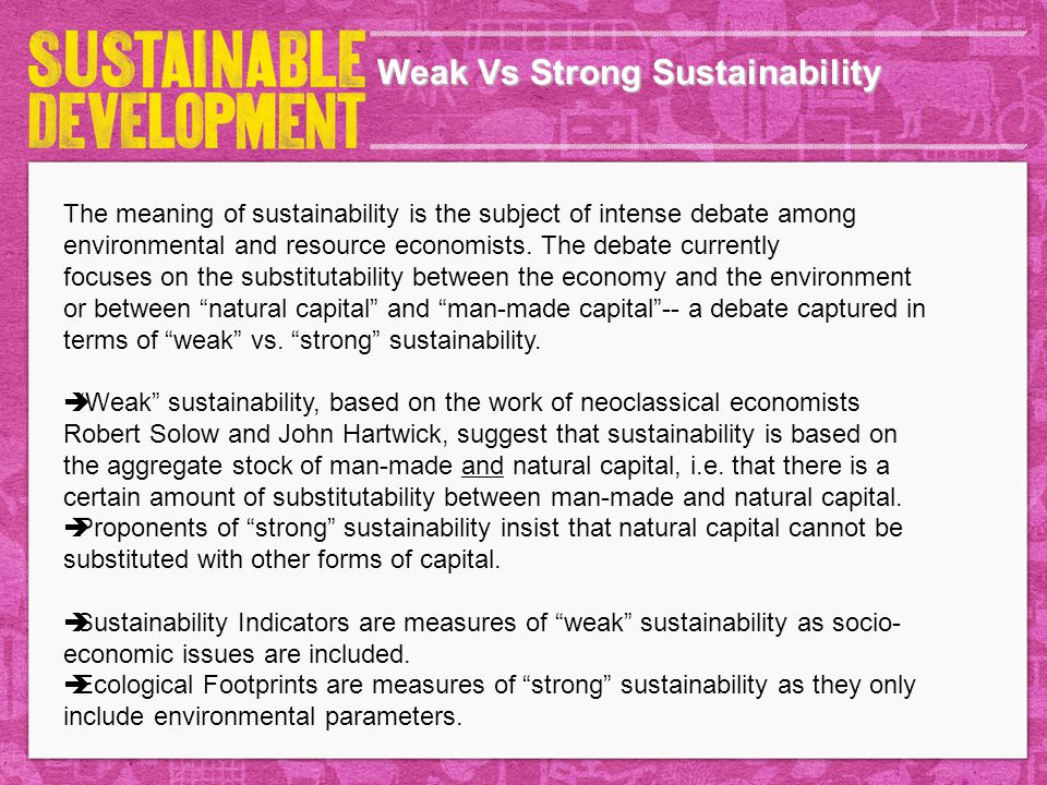 Weak Vs Strong Sustainability