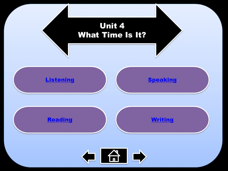 Unit 4 What Time Is It Listening Speaking Reading Writing