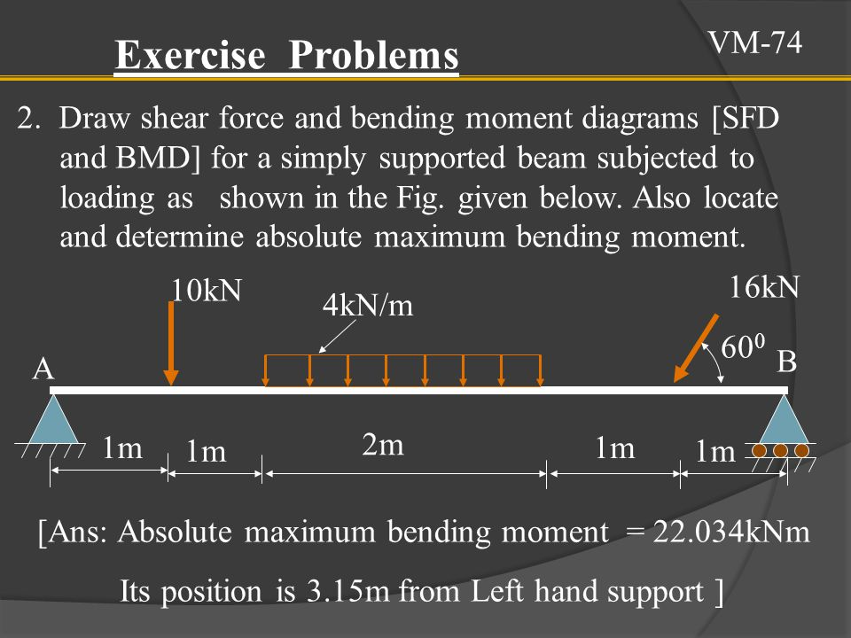 VM-74 Exercise Problems.