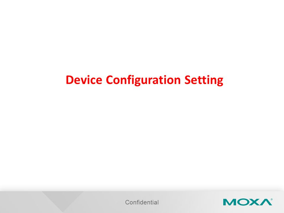 Device Configuration Setting