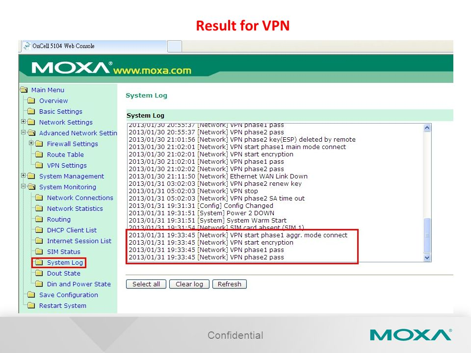 Result for VPN Confidential