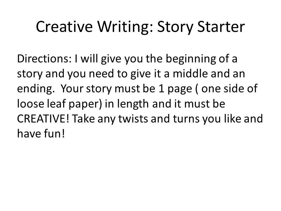 Creative Writing: Story Starter
