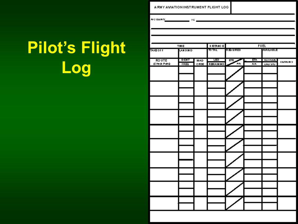Pilot's Flight Log