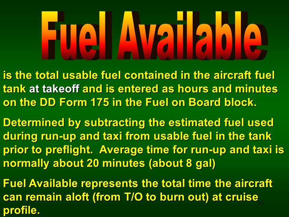 Fuel Available