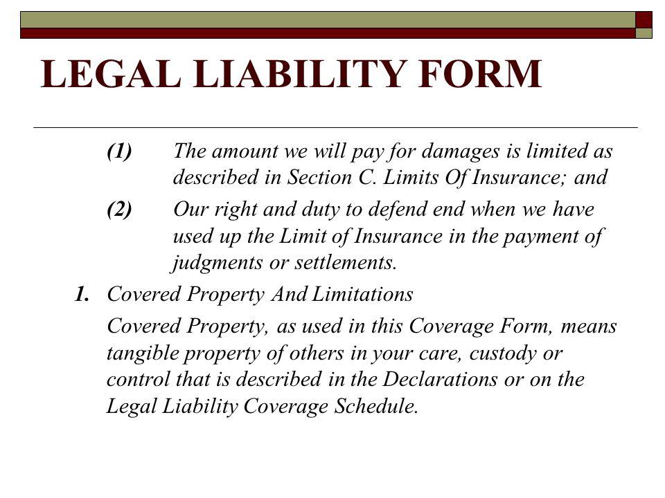 LEGAL LIABILITY FORM