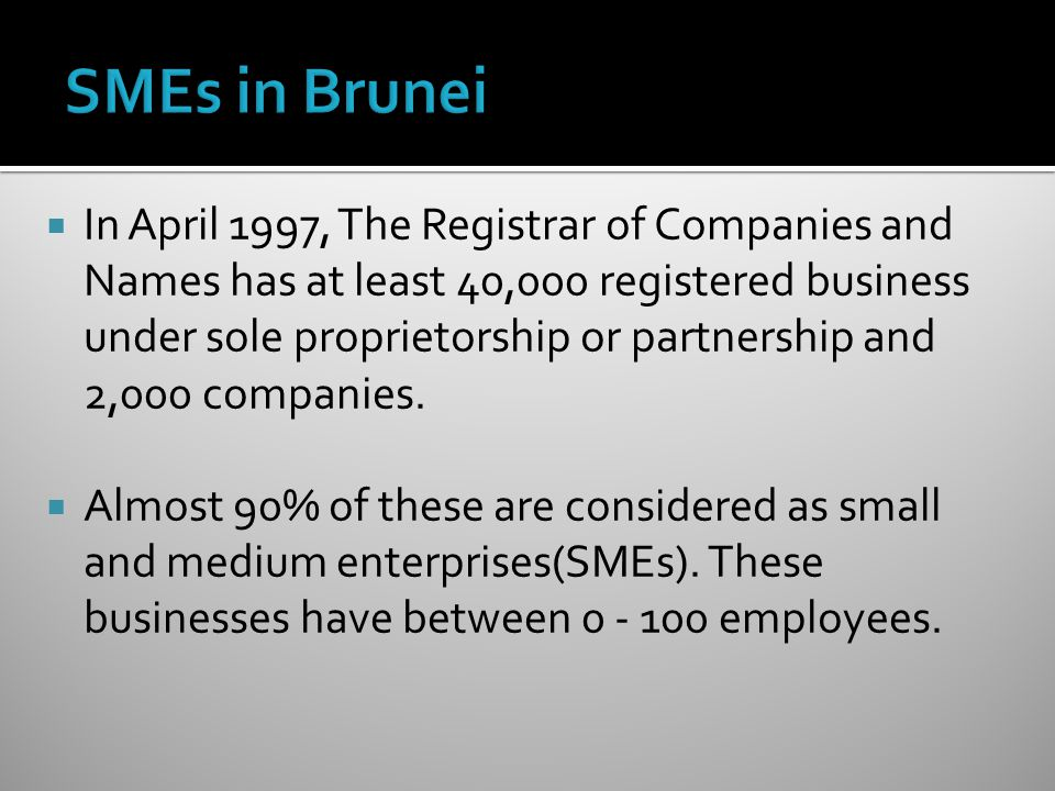 SMEs in Brunei