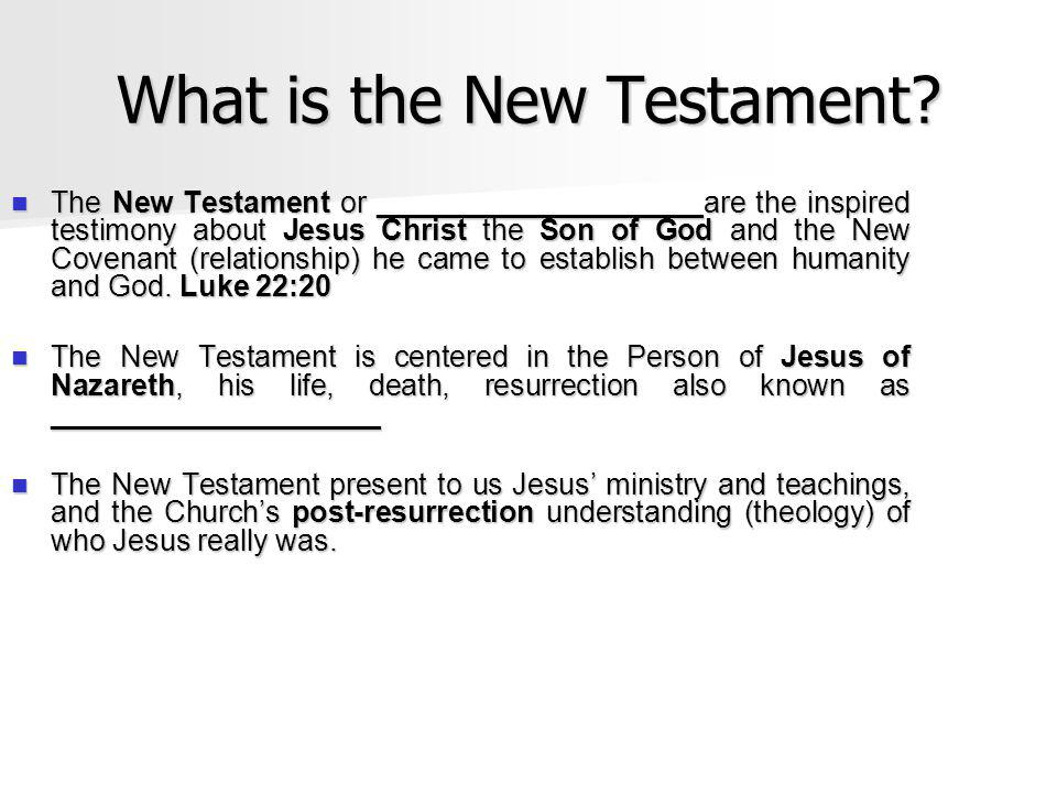 What is the New Testament