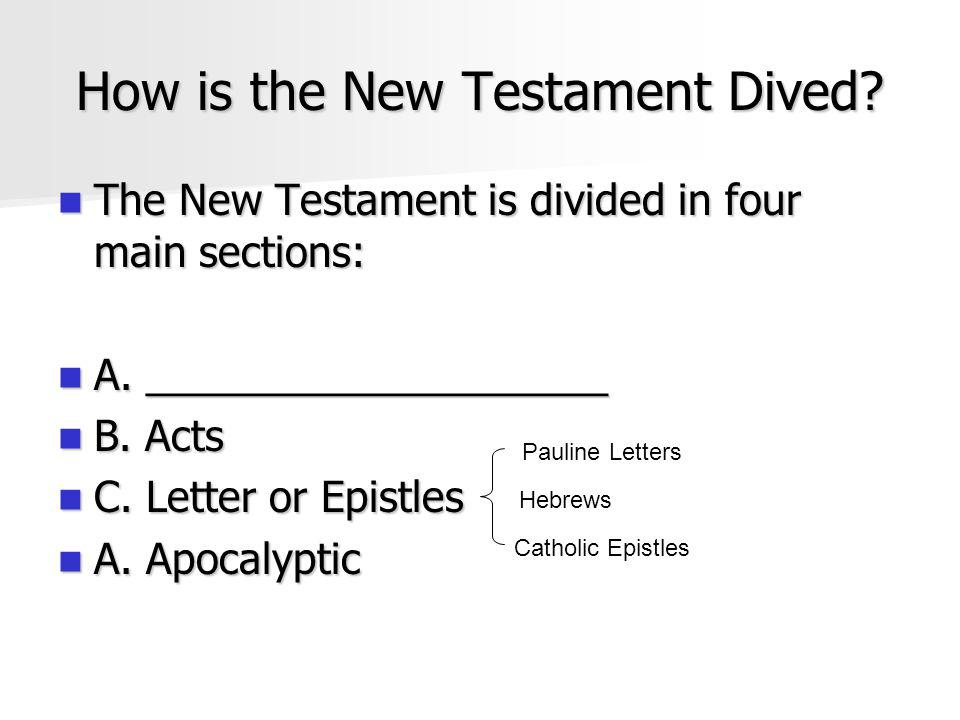 How is the New Testament Dived