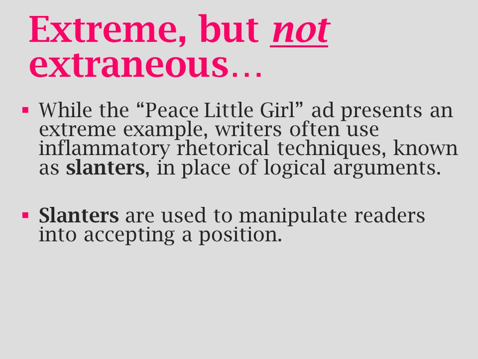 Extreme, but not extraneous…