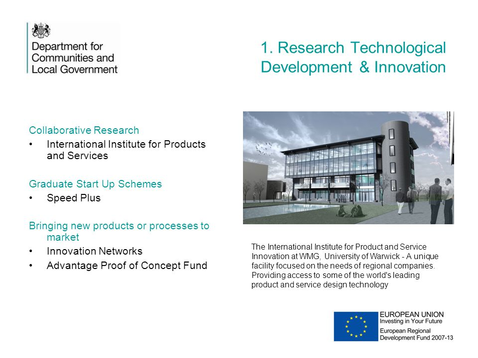 1. Research Technological Development & Innovation