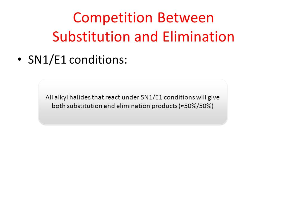 Competition Between Substitution and Elimination