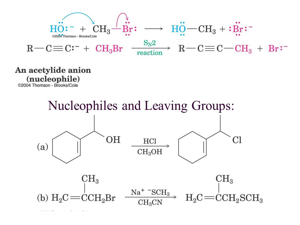 Nucleophiles and Leaving Groups:
