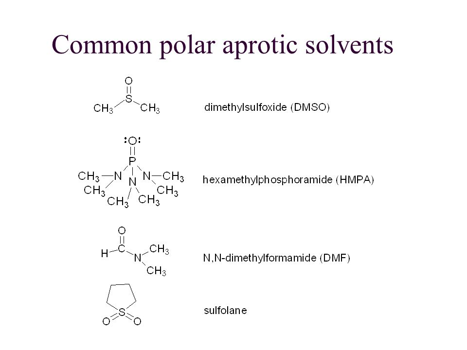 Common polar aprotic solvents