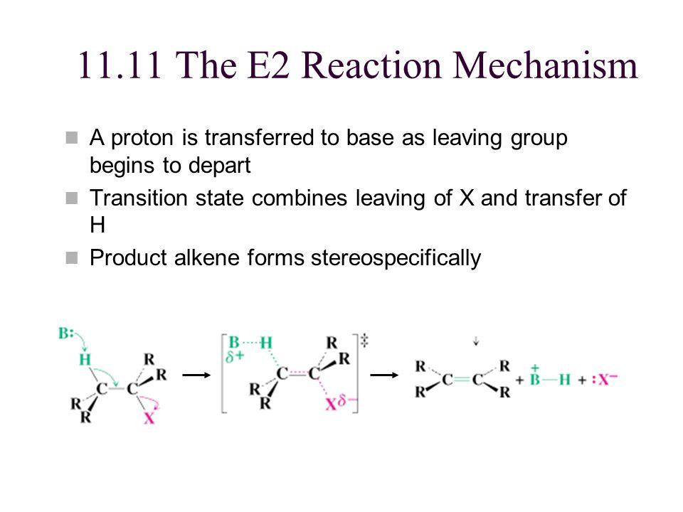 11.11 The E2 Reaction Mechanism
