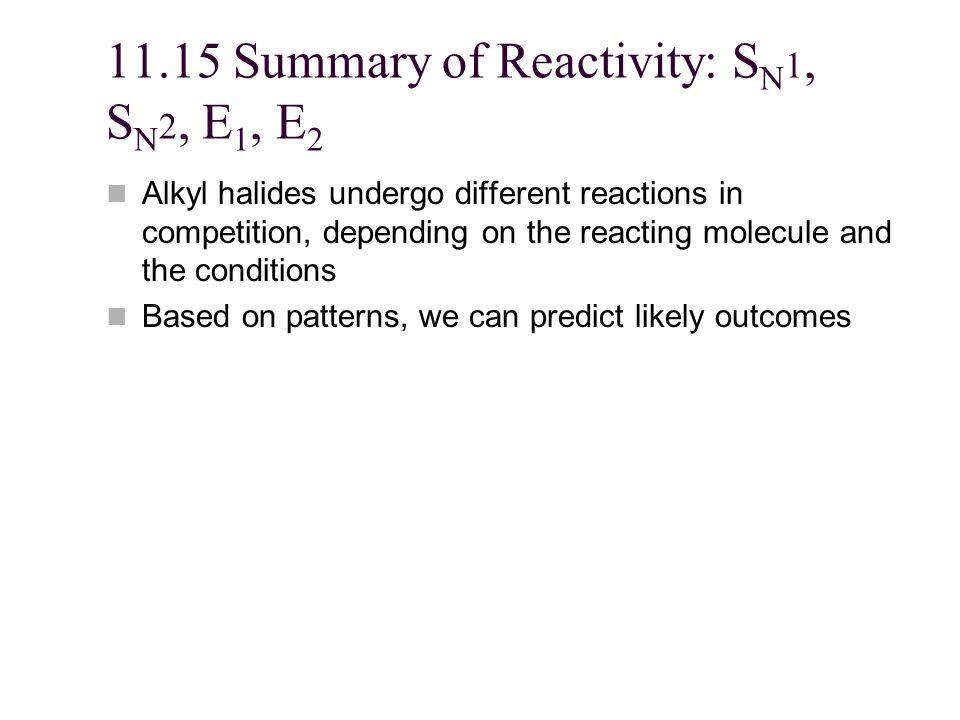 11.15 Summary of Reactivity: SN1, SN2, E1, E2