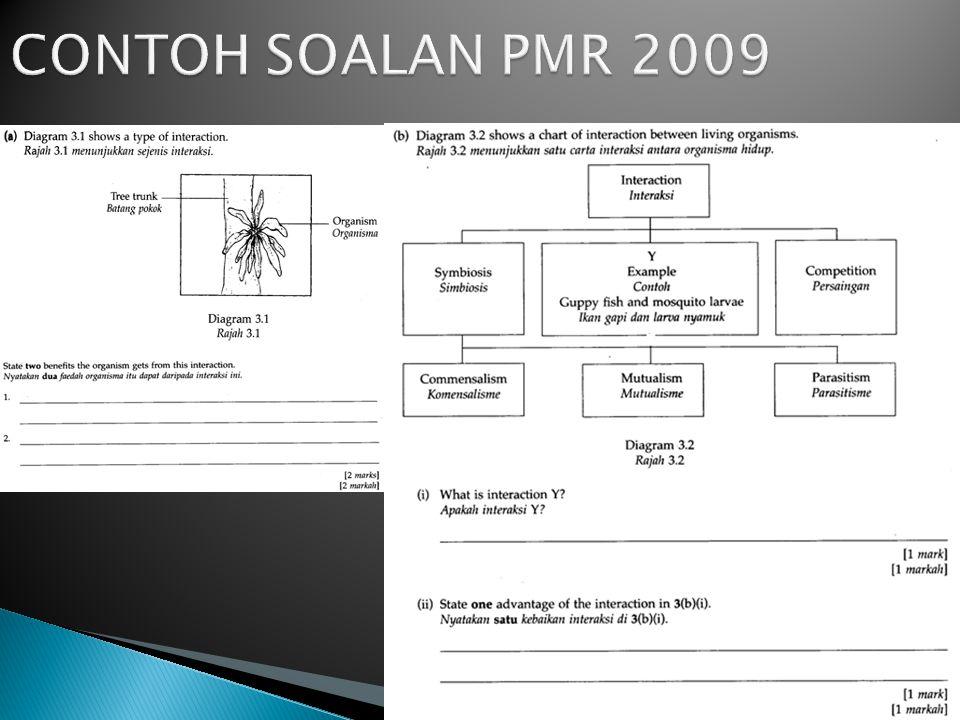 CONTOH SOALAN PMR 2009