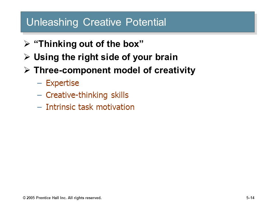 Unleashing Creative Potential