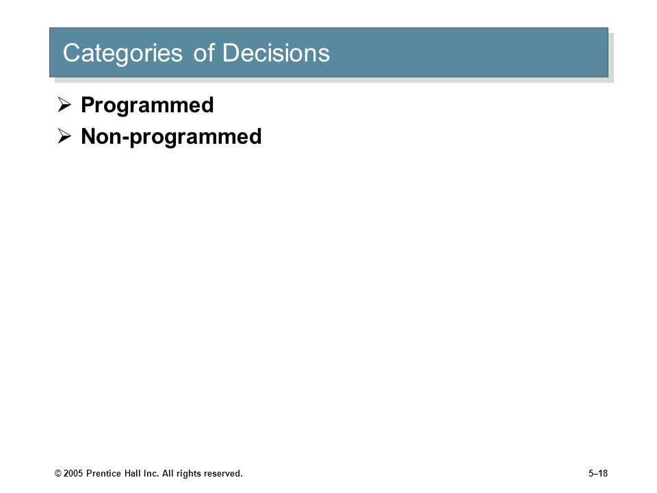 Categories of Decisions