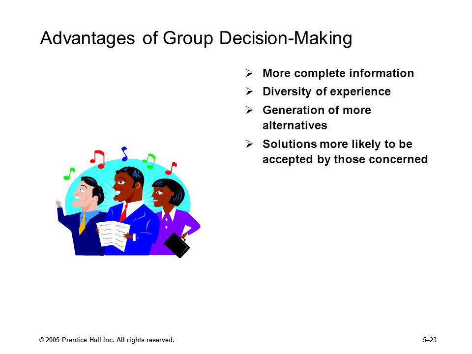 Advantages of Group Decision-Making