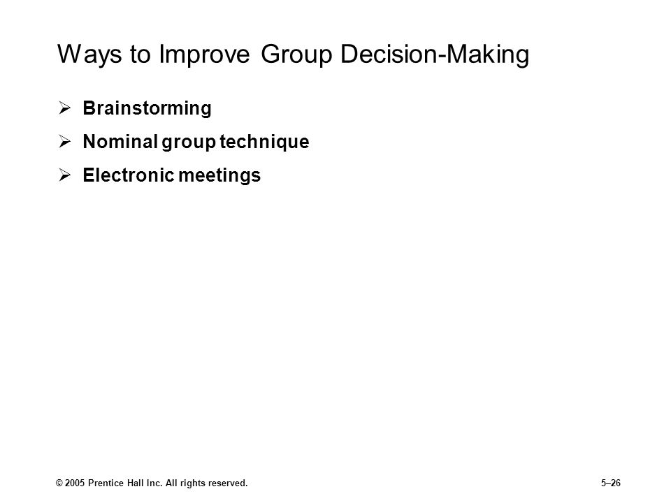 Ways to Improve Group Decision-Making