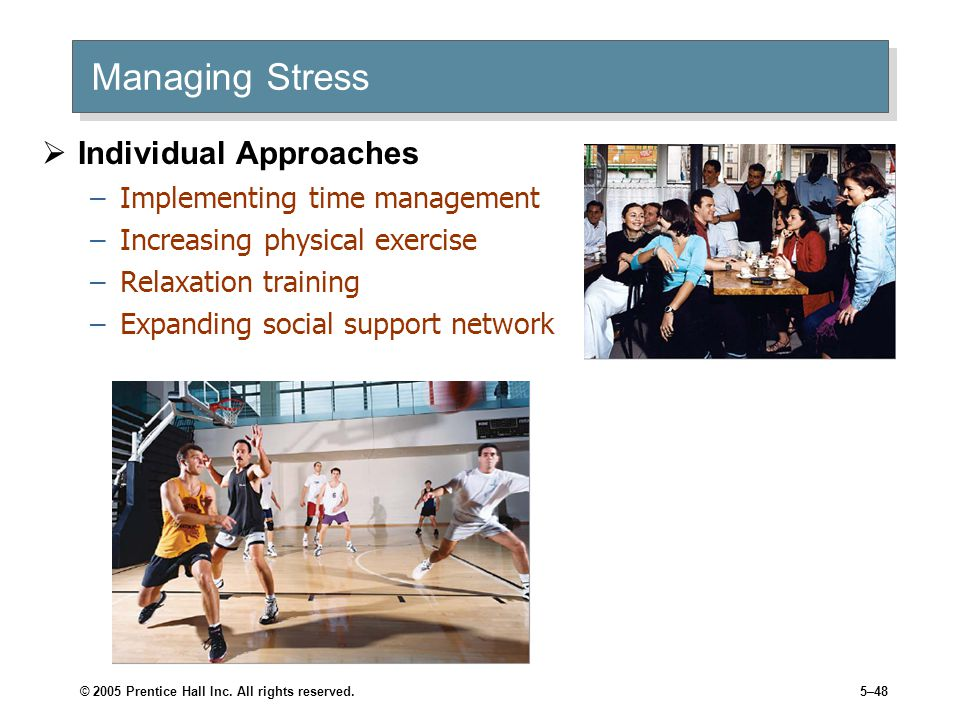 Managing Stress Individual Approaches Implementing time management