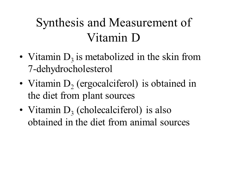 Synthesis and Measurement of Vitamin D